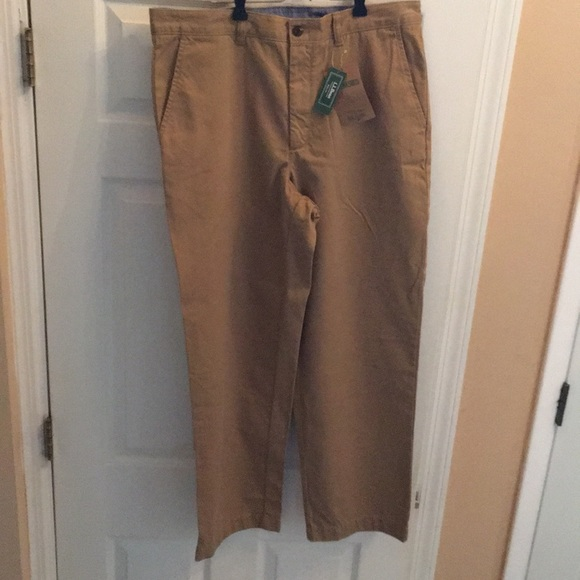L.L. Bean Other - NWT L.L. Bean lake washed Khakis tan 35x20 pants